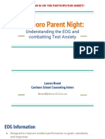 parent night--eog and test anxiety