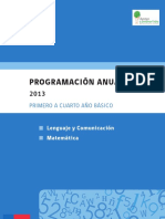 Programacion Anual Lenguaje Matematica 2013