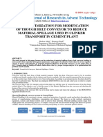 Design Optimization for Modification of Trough Belt Conveyor to Reduce Material Spillage Used in Clinker Transport in Cement Plant