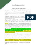 Psicoanálisis y Discapacidad - Apunte de Catedra