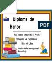 Diploma Día Del Libro