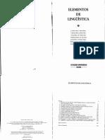Vide (1996) Elementos de Lingüística