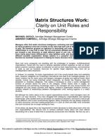 Making Matrix Structures Work