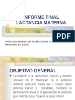 Informe Final de Lactancia Materna