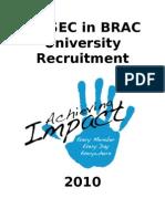 AIESECinBRACU Recruitment Form 2010 Final