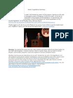 week 4 legislative summary