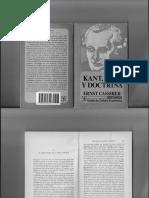 KANT Cassirer, E; Kant, Vida y Doctrina..