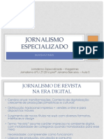 Jornalismo de Revista Na Era Digital