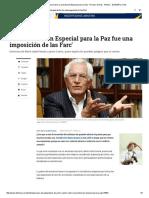 Análisis de Jaime Castro Sobre La Jurisdicción Especial Para La Paz - Proceso de Paz - Política - ELTIEMPO