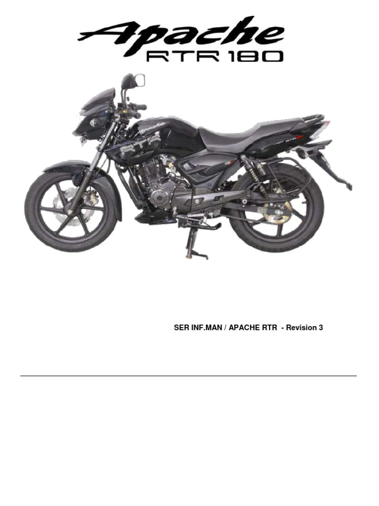 TVS Apache RTR 180 Service Manual Internal Training Manual