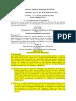 Reglamento General de La Ley de Minas
