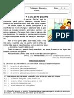 Atividade de Portugues - A Chata Ou as Baratas