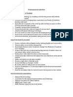 sed 322- professional growth plan