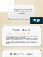 religion as a social institution and the effect