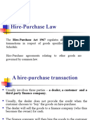 7 The Hire Purchase Act Common Law Justice