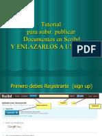 Tutorial Para Subir Documentos a Internet (vía Scribd) y Publicarlos en un Blog