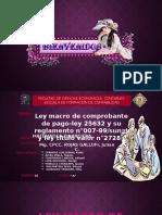 Ley Marco de Comprobantes de Pago Mate II