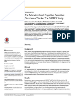 The behaviorral and cognitive executive disorder of stroke