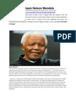Salaam Nelson Mandela
