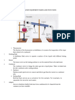 Distillation Equipment Parts and Functions