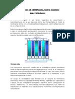 Tecnologias de Membrana Liquido-liquido