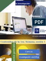 Semana 1.1. Ciencia e Investigacion Cientifica