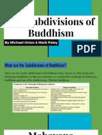 buddhist subdivisions presentation