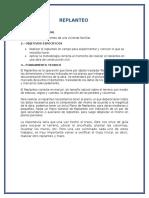 informe REPLANTEO