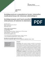 Antidepressivos e Anestesicos