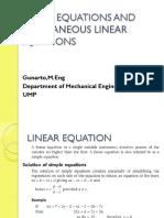 Linear Equation