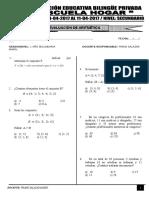 Examen de Secundaria - Aritmética