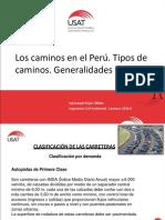 01 Los Caminos en El Perú. Tipos de Caminos. Generalidades