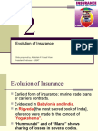 Chapter 2 [Evolution of Insurance]
