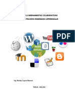 Herramientas Colaborativas Web 2.0 en el proceso enseñanza aprendizaje