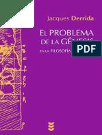 Derrida, Jacques - El Problema de la Génesis en la Filosofía de Husserl