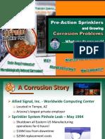 Corrosion in Sprinkler System