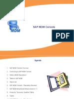 Sap Mdm - Console