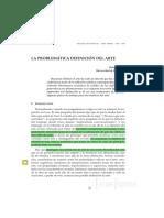 El Problema de La Definicion de Arte - Castro Sixto.pdf