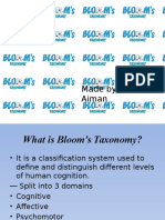 Bloom taxanomy