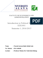 Assignment Political Science