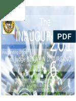 Inaugurals