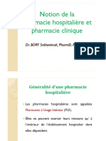 1-Notion de La Pharm Hosp Et Pharm Clin
