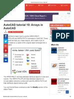 AutoCAD Tutorial 10_ Arrays in AutoCAD