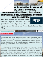 Formulas and Production Process of Polishes, Glass, Ceramics, Nitrogenous Fertilizers, Petroleum, Lubricants, Fats, Emulsions, Leather and Insecticides (Oils, Fats, Polishes and Abrasives, Materials of Construction, Petroleum Refinery Processes and Petroleum Products, Pyrotechnics and Explosives, Urea and Urea Form,  Superphosphate, Dispersions and Foams, Fungicides and Weed Killers)