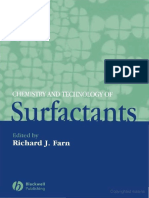 Chemistry and Techniology of Surfactants