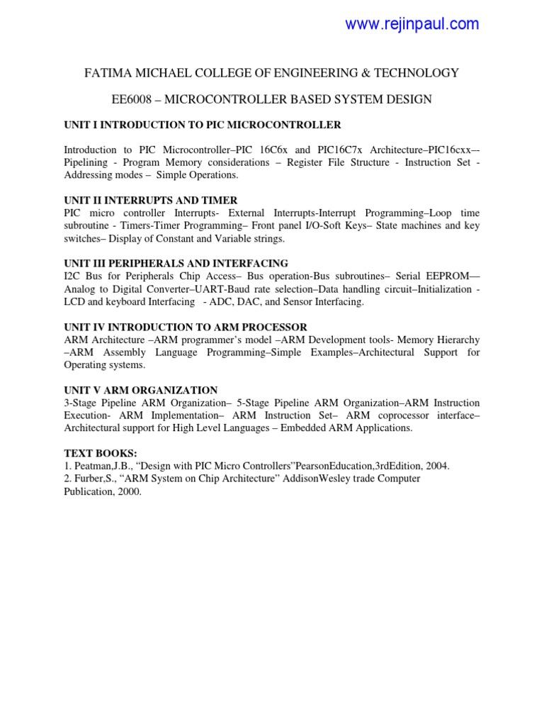 Fatima Michael College Of Engineering & Technology Ee6008