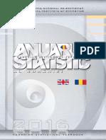 Anuar Statistic Al Romaniei 2016 Format Carte
