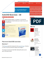 AutoCAD Exercises (Free eBook) - Tutorial45