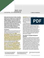 Digital Watermarks as Legal Evidence