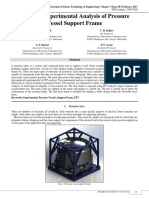 Experimental Analysis of Pressure Vessels Support Frame